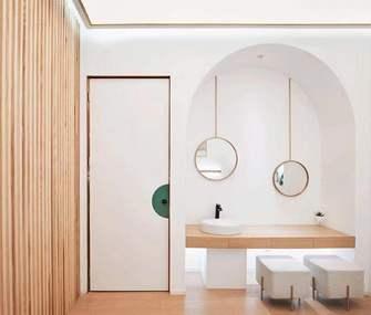 140平米一居室现代简约风格卫生间欣赏图