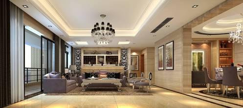 豪华型140平米别墅轻奢风格客厅图片