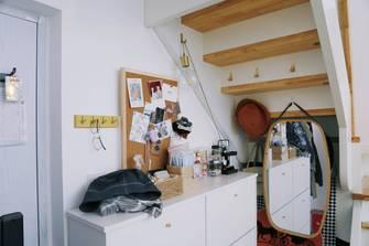 富裕型90平米三室一厅北欧风格玄关效果图