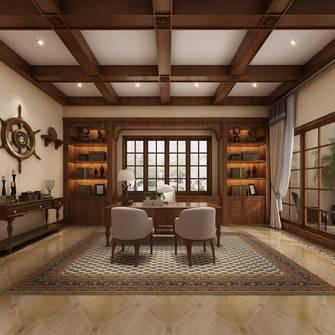 豪华型140平米别墅地中海风格书房图