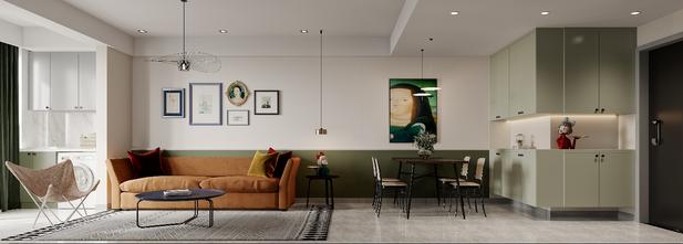 80平米三室两厅公装风格客厅装修案例