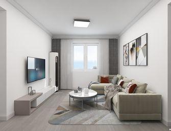 5-10万80平米现代简约风格客厅图