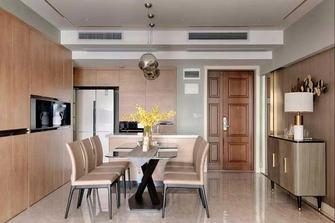 130平米三室一厅轻奢风格餐厅图