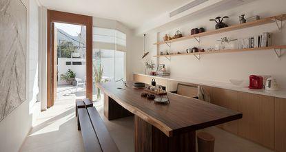 20万以上140平米三室三厅日式风格餐厅图
