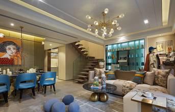 110平米三欧式风格客厅图