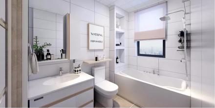 10-15万130平米三室两厅北欧风格卫生间装修效果图