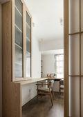 富裕型80平米三室两厅日式风格书房欣赏图
