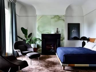 140平米田园风格卧室装修图片大全