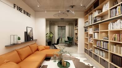 90平米三室三厅工业风风格客厅效果图