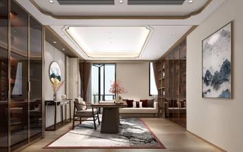 20万以上140平米复式中式风格书房图