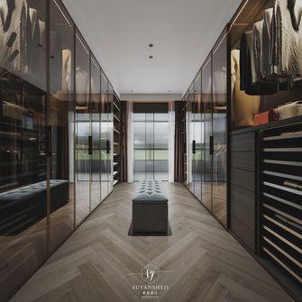 富裕型140平米三室三厅现代简约风格衣帽间图