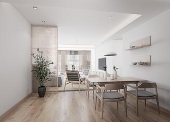 富裕型三室两厅日式风格餐厅装修效果图