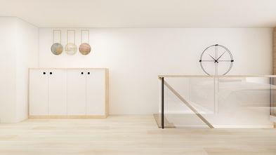富裕型30平米小户型日式风格楼梯间装修效果图