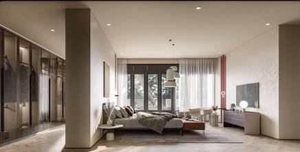 140平米别墅工业风风格卧室装修图片大全