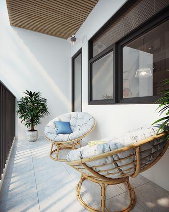 富裕型70平米三室两厅北欧风格阳台图片