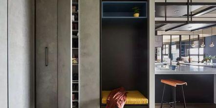 豪华型130平米三室两厅工业风风格客厅图片大全