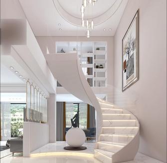 140平米四轻奢风格楼梯间欣赏图