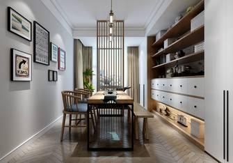 140平米三室两厅日式风格书房效果图
