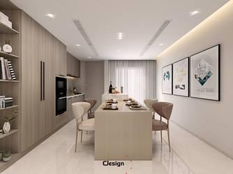 20万以上100平米三室两厅现代简约风格餐厅图片大全