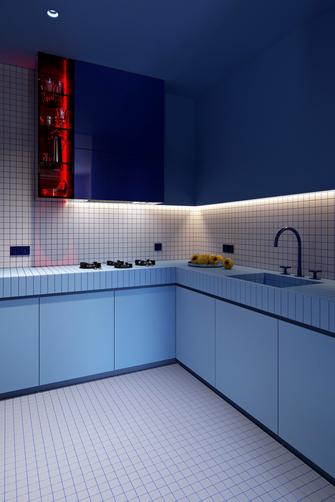 富裕型80平米混搭风格厨房图