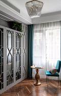 130平米四室一厅美式风格书房装修图片大全
