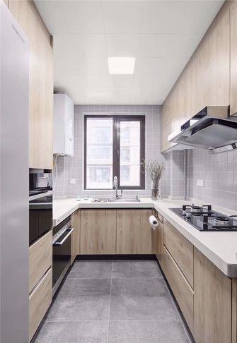 经济型100平米三室一厅法式风格厨房欣赏图