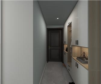 5-10万90平米三室两厅现代简约风格玄关装修图片大全