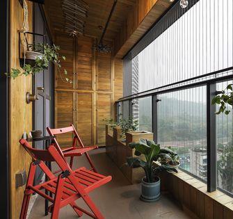 10-15万110平米三室两厅工业风风格阳台图片