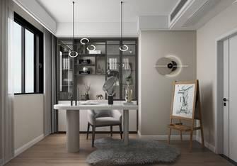 豪华型130平米四室两厅现代简约风格书房图片大全