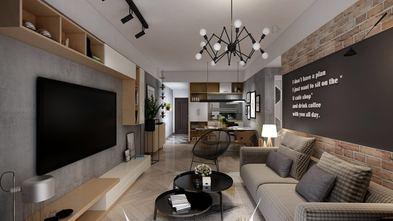 80平米三室两厅工业风风格客厅效果图