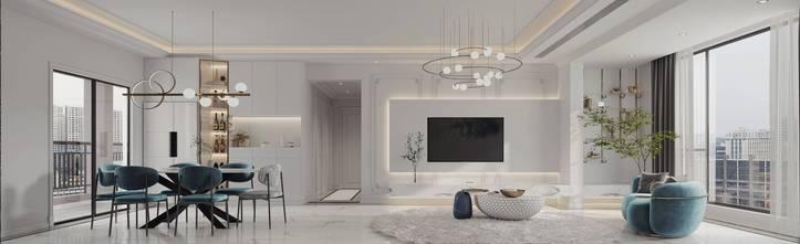 富裕型140平米四室两厅法式风格客厅装修图片大全