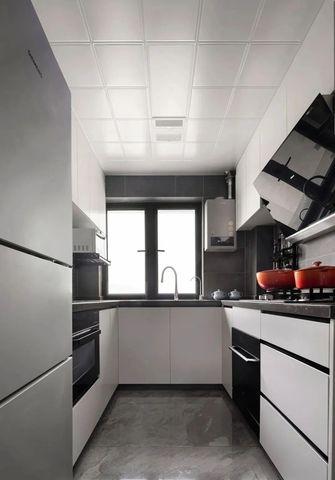 富裕型80平米三现代简约风格厨房欣赏图