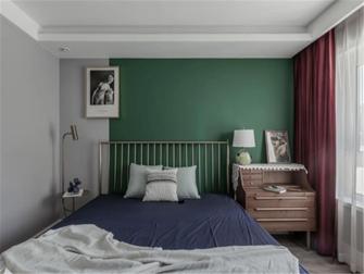 富裕型80平米田园风格卧室装修案例