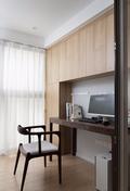 90平米三室两厅日式风格书房设计图