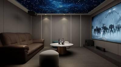 20万以上140平米复式现代简约风格影音室图片
