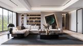 豪华型140平米别墅现代简约风格客厅装修图片大全