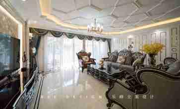 富裕型140平米四室一厅欧式风格客厅设计图