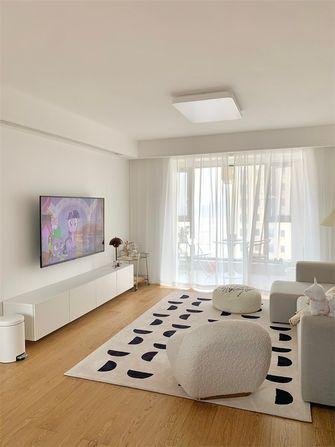 经济型100平米三室一厅现代简约风格客厅图