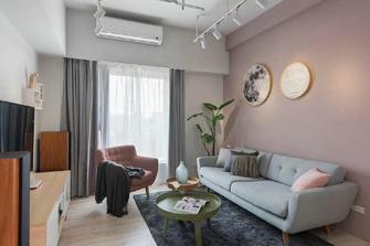经济型60平米一居室北欧风格客厅设计图