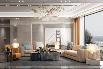 20万以上140平米复式轻奢风格客厅图片