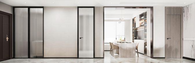 5-10万140平米四室两厅现代简约风格走廊装修案例