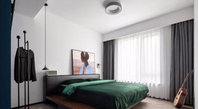 120平米三室一厅工业风风格卧室装修效果图