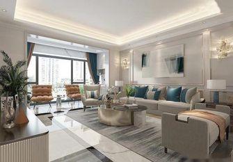 130平米三室一厅混搭风格客厅效果图