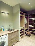 富裕型90平米一居室现代简约风格衣帽间欣赏图