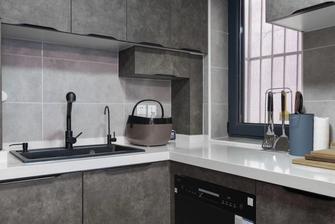 20万以上70平米工业风风格厨房设计图