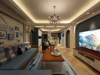 豪华型130平米三室两厅地中海风格客厅装修图片大全