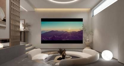 豪华型140平米别墅混搭风格影音室图片大全