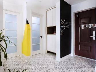 10-15万80平米一室一厅北欧风格玄关设计图