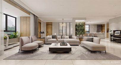 140平米四室五厅现代简约风格客厅图片大全