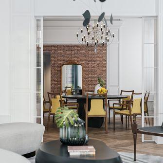 富裕型80平米法式风格餐厅图片